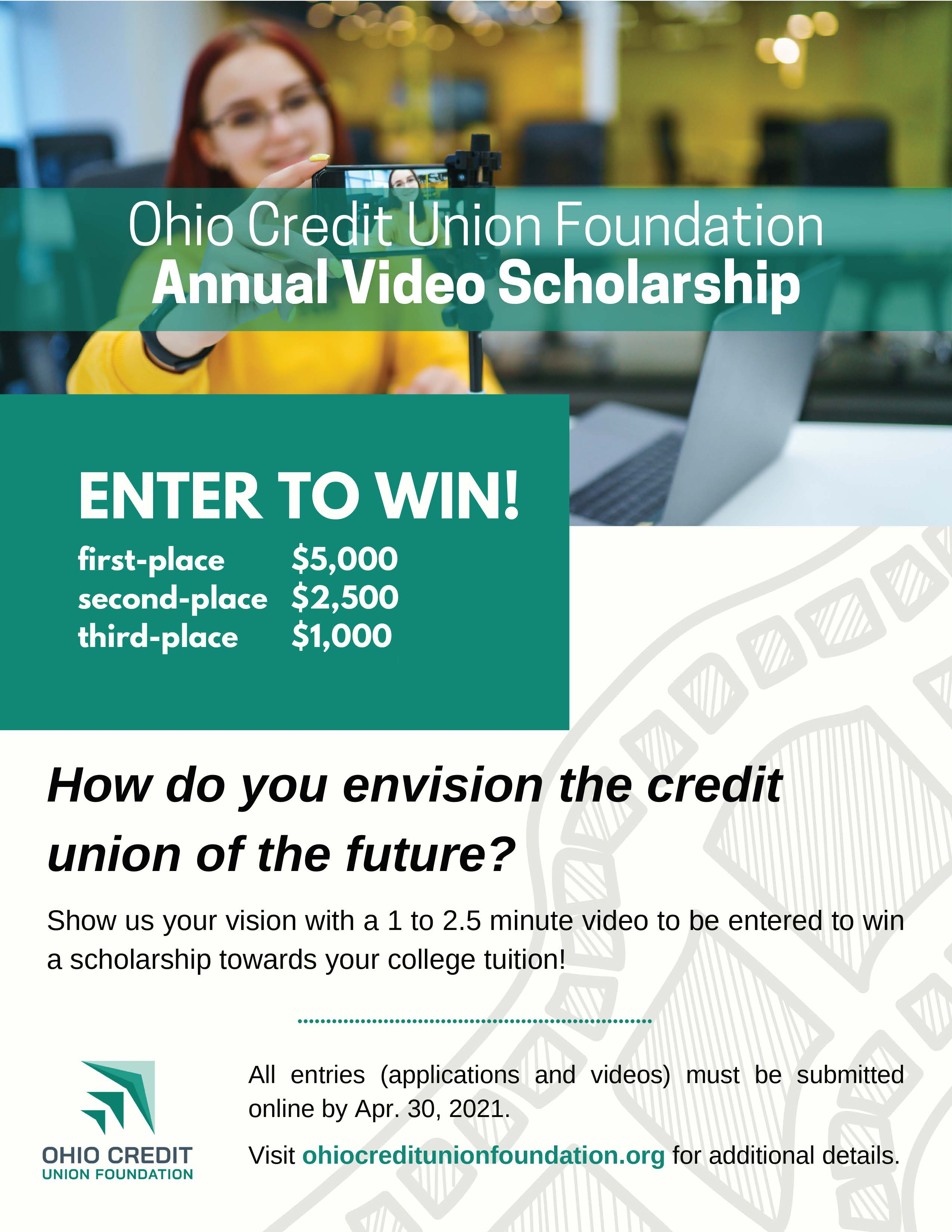 ohio credit union foundation annual video scholarship